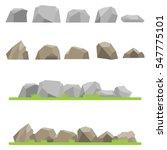 stones  set stones  mountains ... | Shutterstock .eps vector #547775101