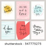 vertical valentine's cards with ... | Shutterstock .eps vector #547775275