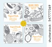 set of flyers with hand drawn... | Shutterstock .eps vector #547777369