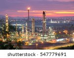 oil refinery industry | Shutterstock . vector #547779691