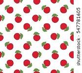 seamless pattern of fruit  ... | Shutterstock .eps vector #547781605
