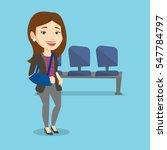 an injured caucasian woman... | Shutterstock .eps vector #547784797