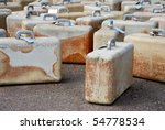 Many suitcases made from stone - stock photo