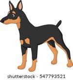 Cartoon Dog Miniature Pincher