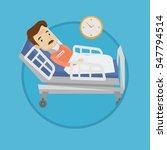 an adult man wearing cervical... | Shutterstock .eps vector #547794514