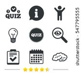 quiz icons. human brain think.... | Shutterstock .eps vector #547795555