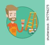 painter holding a paintbrush.... | Shutterstock .eps vector #547796275