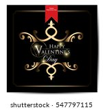 happy valentines day card | Shutterstock .eps vector #547797115