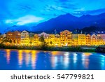 colorful houses on bank of the...   Shutterstock . vector #547799821