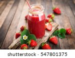 strawberry smoothie in the... | Shutterstock . vector #547801375