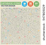 database icon set clean vector | Shutterstock .eps vector #547805029