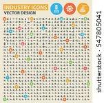 industry icon set clean vector | Shutterstock .eps vector #547805041