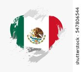 vector flag of mexico isolated... | Shutterstock .eps vector #547806544