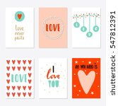 valentines day set cards.... | Shutterstock .eps vector #547812391