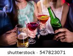 group of friends toasting... | Shutterstock . vector #547823071
