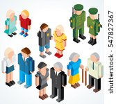 people generations at different ... | Shutterstock .eps vector #547827367