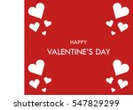 happy valentine's day | Shutterstock . vector #547829299