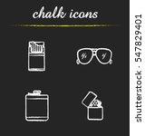 men's accessories chalk icons... | Shutterstock .eps vector #547829401