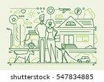 family life   vector modern... | Shutterstock .eps vector #547834885
