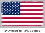 grunge usa flag.vector american ... | Shutterstock .eps vector #547834891