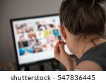 view from behind over her... | Shutterstock . vector #547836445