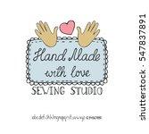 doodles.hand made needlework... | Shutterstock .eps vector #547837891