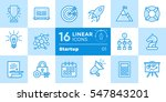 vector collection of line icons ... | Shutterstock .eps vector #547843201