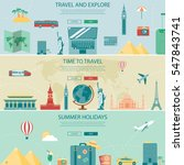 travel and tourism headers ... | Shutterstock .eps vector #547843741