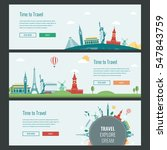 travel and tourism headers ... | Shutterstock .eps vector #547843759