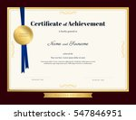 elegant certificate of... | Shutterstock .eps vector #547846951