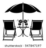 Vector Beach Umbrella  Deck...