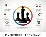 chess   business leader concept | Shutterstock .eps vector #547856209