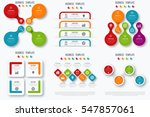 set with infographics. data and ... | Shutterstock .eps vector #547857061