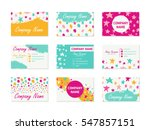 set of business cards with hand ... | Shutterstock .eps vector #547857151