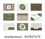set of business cards with hand ... | Shutterstock .eps vector #547857175