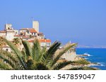 antibes on the french riviera... | Shutterstock . vector #547859047