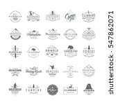 set of 25 premium labels on the ... | Shutterstock .eps vector #547862071