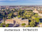 view at the vatican gardens and ... | Shutterstock . vector #547865155