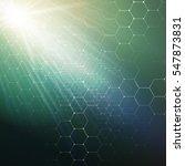 chemistry 3d pattern  hexagonal ... | Shutterstock . vector #547873831