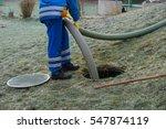 emptying household septic tank. ... | Shutterstock . vector #547874119