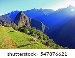 Sunrise In Ancient Inca City...