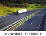 truck transportation | Shutterstock . vector #547880041
