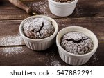 chocolate souffle home  baked... | Shutterstock . vector #547882291