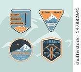 set logos club climbing. storm... | Shutterstock .eps vector #547882645