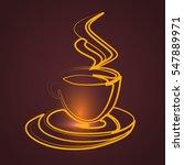 coffee gold  vector   Shutterstock .eps vector #547889971