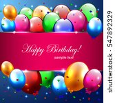 birthday banner with... | Shutterstock .eps vector #547892329