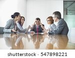 businesspeople arguing in... | Shutterstock . vector #547898221