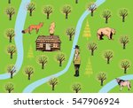 hunting pattern with different... | Shutterstock .eps vector #547906924