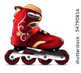 inline skating boot vector... | Shutterstock .eps vector #54790816