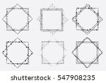 hand drawn vector square frames ... | Shutterstock .eps vector #547908235